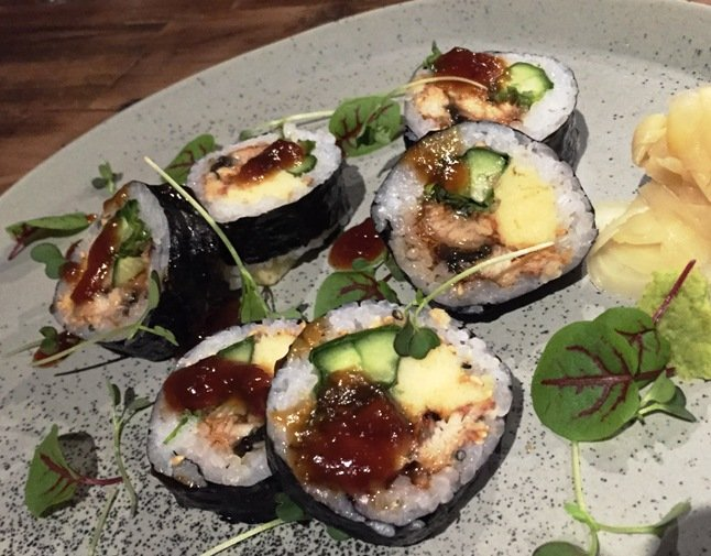Unagi maki roll at M Sushi, Durham- NC Triangle Dining