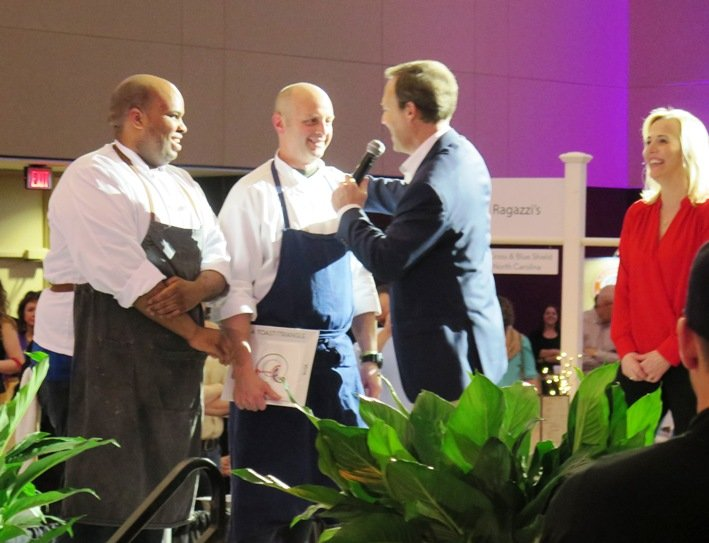 Faire and Chef Steve at the 2016 Toast to the Triangle in Raleigh- NC Triangle Dining