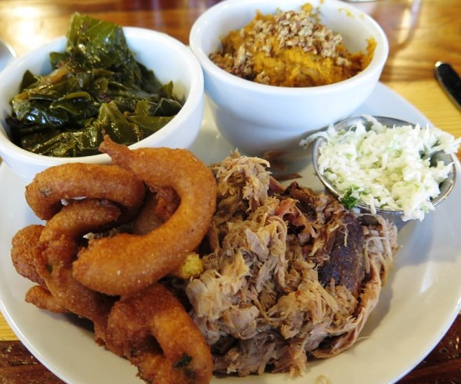 Barbeque plate at Picnic in Durham- NC Triangle Dining