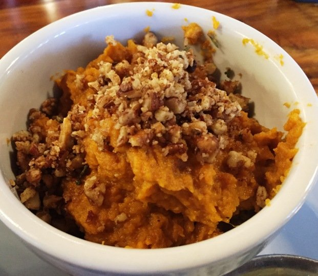 Sweet potato puree at Picnic in Durham- NC Triangle Dining