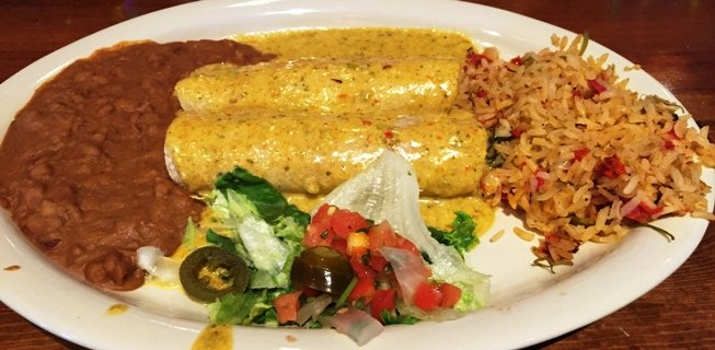 Smothered enchiladas at Chuy's in Raleigh- NC Triangle Dining
