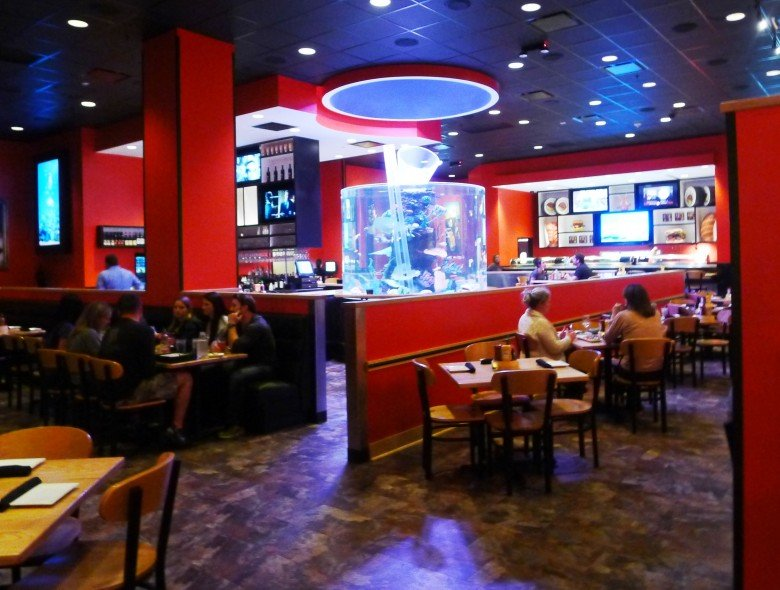 Interior at Cowfish Sushi in Raleigh- NC Triangle Dining