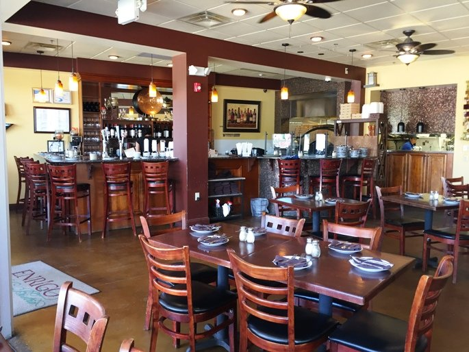 European interior at Enrigo Italian Bistro in Cary- NC Triangle Dining