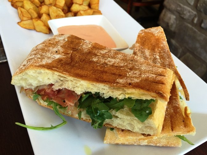 Prosciutto sandwich at Enrigo Italian Bistro in Cary- NC Triangle Dining