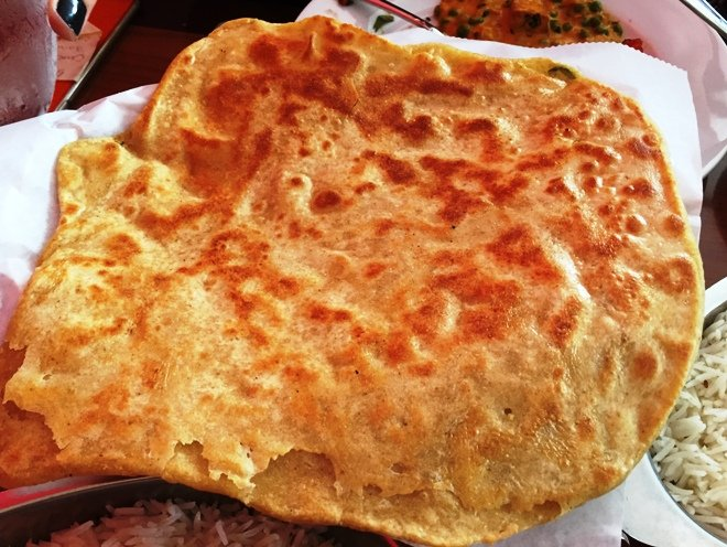 Butter paratha at Himalayan Range in Cary- NC Triangle Dining