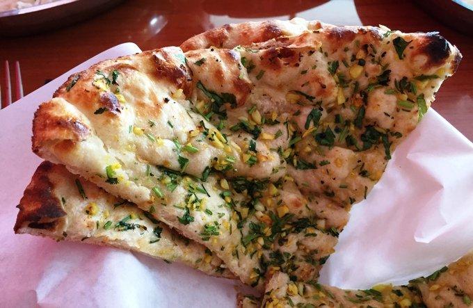 Garlic naan at Himalayan Range in Cary- NC Triangle Dining