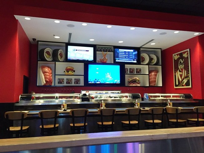 Sushi bar at Cowfish Sushi in Raleigh- NC Triangle Dining