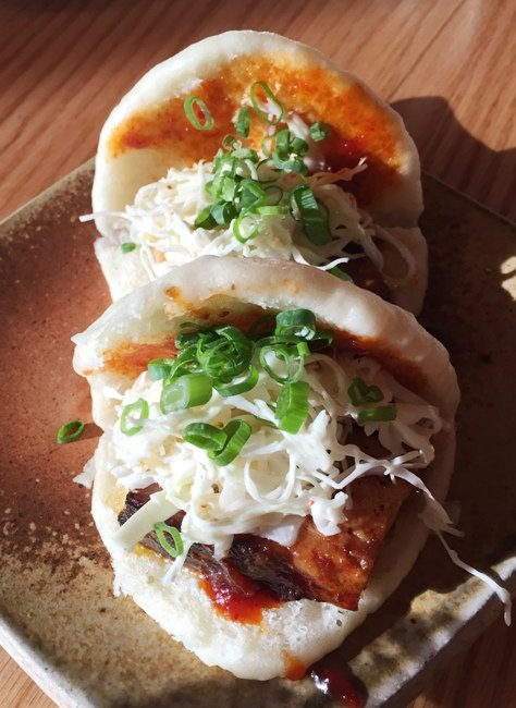 Pork belly buns at Futo Buta in Charlotte- NC Triangle Dining