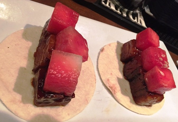 Pork belly tacos at Soul Gastrolounge in Charlotte- NC Triangle Dining