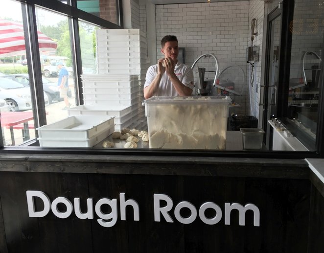 Dough room at Tre Forni in Durham- NC Triangle Dining
