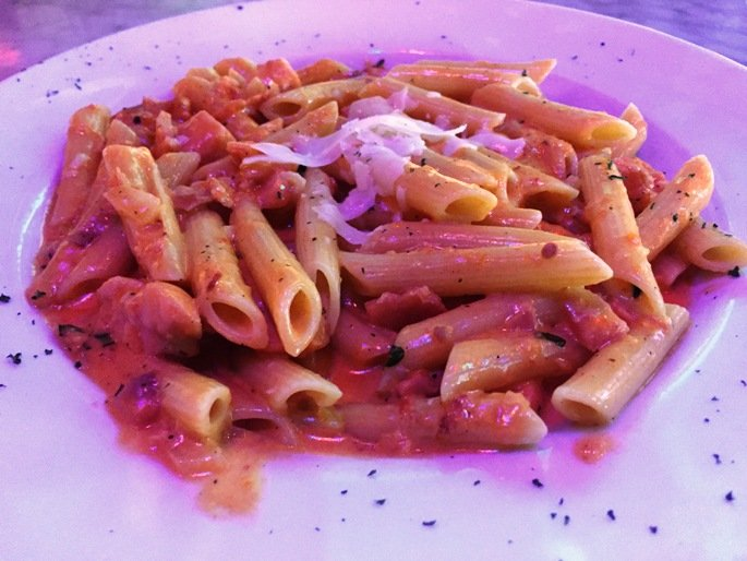 Rosate penne with salmon at Piola in Raleigh- NC Triangle Dining