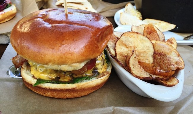 $5 Tuesday burger special at the Station on Person Street, Raleigh - NC Triangle Dining