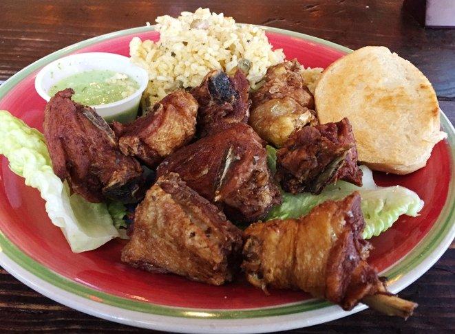 Chicarron de pollo at Tropical Picken Chicken in Raleigh- NC Triangle Dining