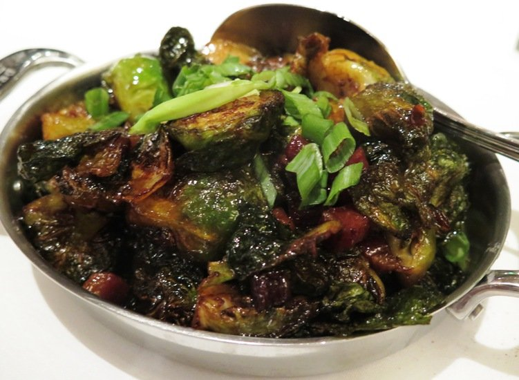Brussel sprouts with bacon at the Capital Grille at North Hills, Raleigh- NC Triangle Dining