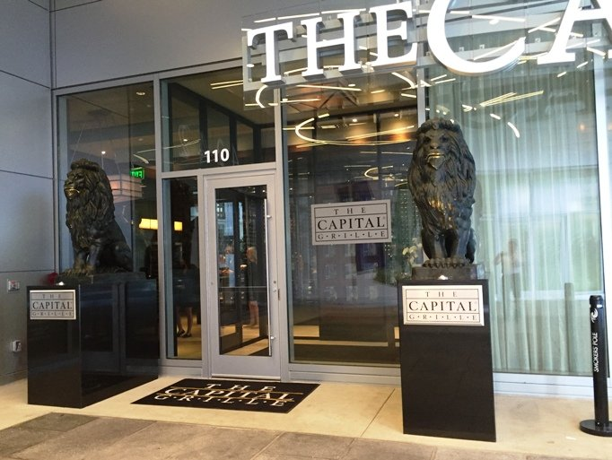 Entrance at the Capital Grille at North Hills, Raleigh- NC Triangle Dining