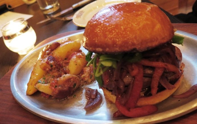 Lamb burger at Littler in Durham- NC Triangle Dining