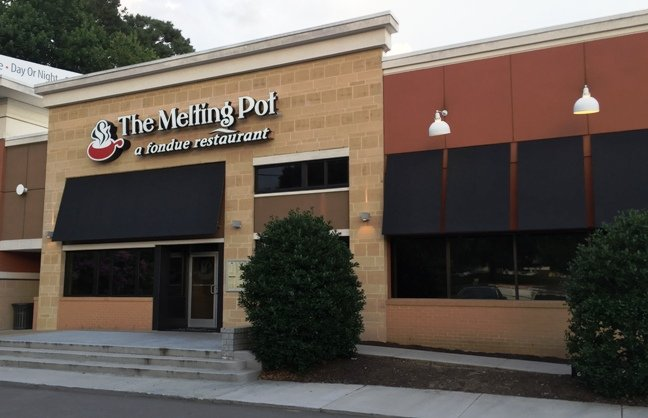 Front of Melting Pot in Raleigh- NC Triangle Dining