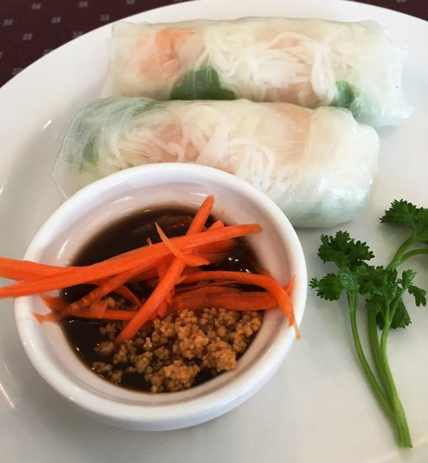 Basil rolls at Thai 55 in Durham - NC Triangle Dining