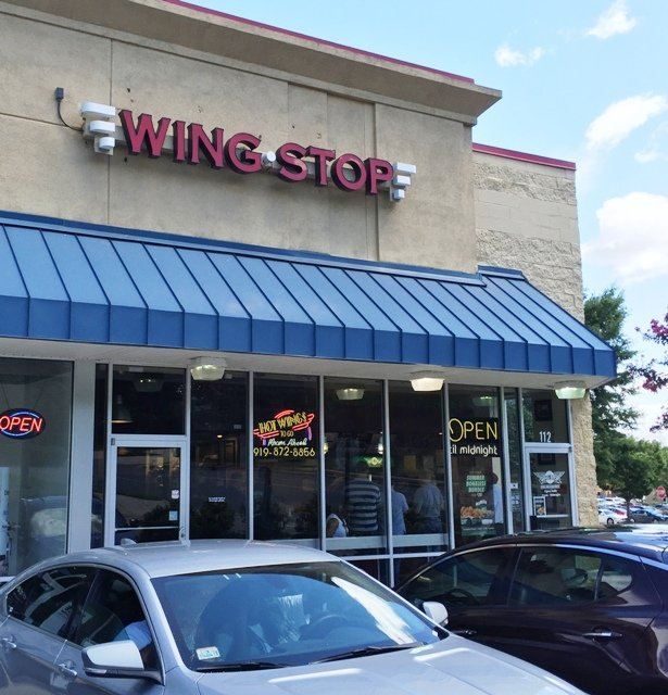 Front of Wing Stop in Raleigh- NC Triangle Dining