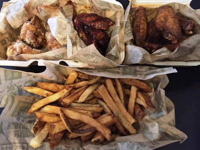 Wings and fries meal at Wing Stop in Raleigh- NC Triangle Dining