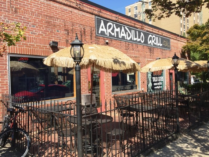 Front of Armadillo Grill in Raleigh- NC Triangle Dining