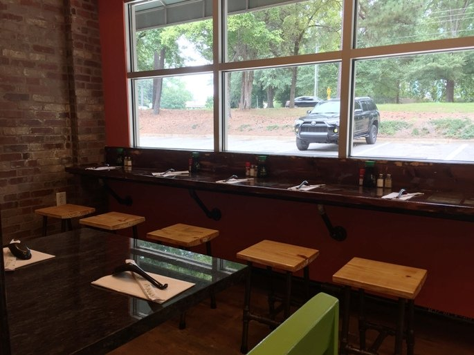 Dining room seating at Noodle Blvd in Cary - NC Triangle Dining
