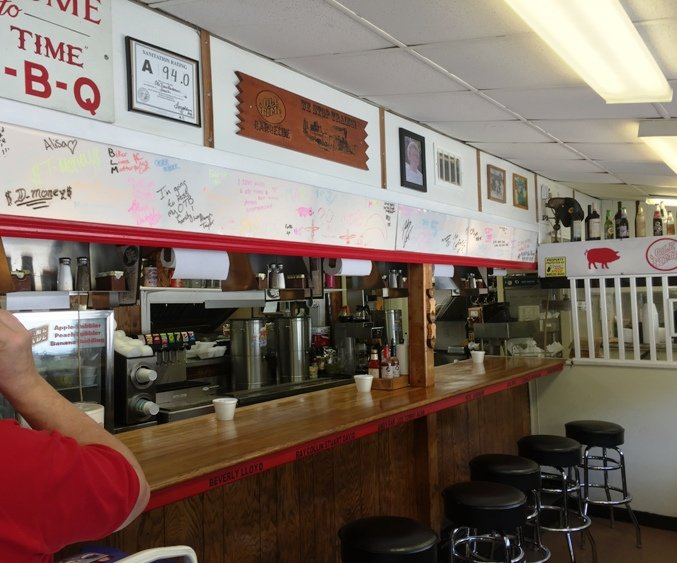 Lunch counter at Ole Time Barbecue in Raleigh- NC Triangle Dining