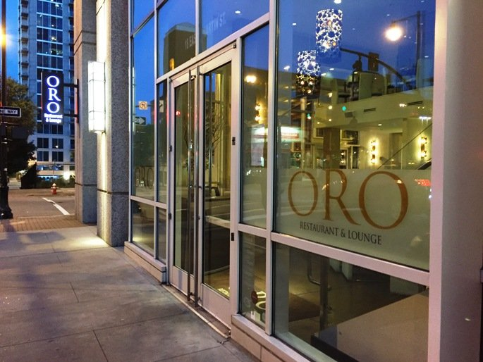 Front of ORO in Raleigh- NC Triangle Dining