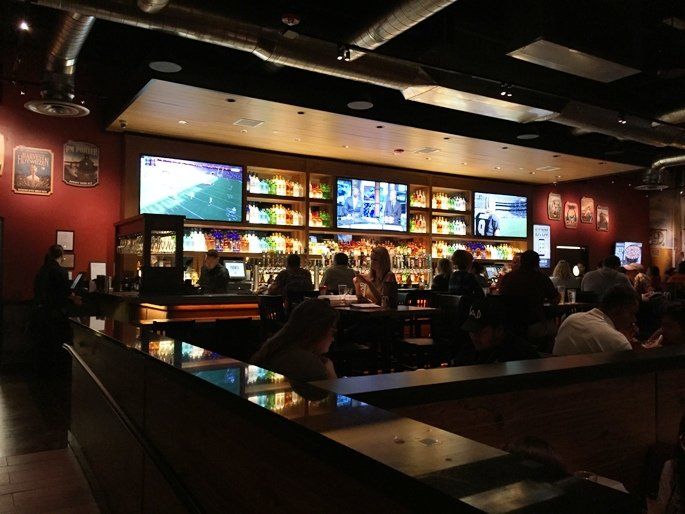 Bar at BJ's Restaurant and Brewhouse in Cary - NC Triangle Dining