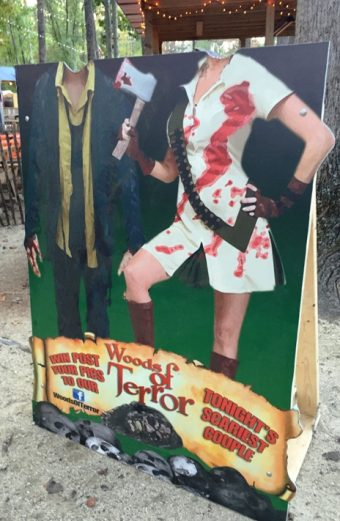 Picture stand from Woods of Terror in Greensboro - NC Triangle Dining
