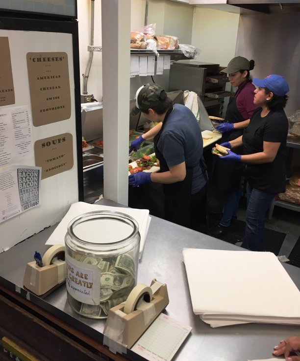 Sandwich making at Merritt's Store and Grill in Chapel Hill - NC Triangle Dining