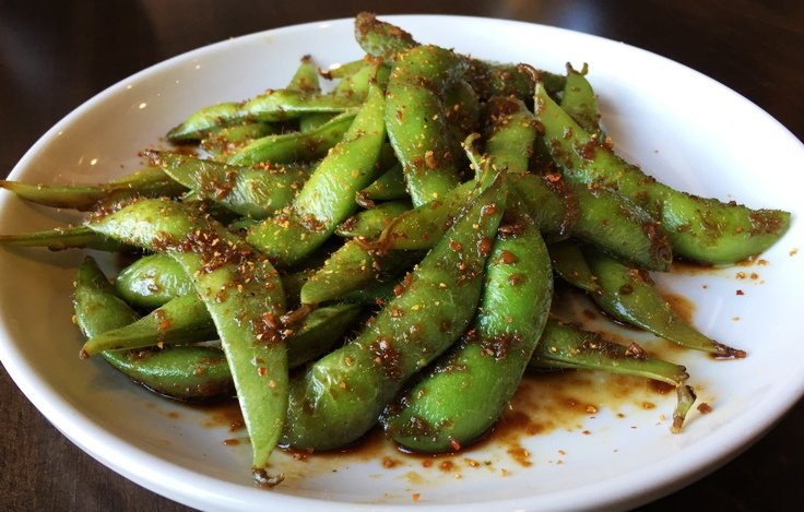 Garlic edamame at City Market Sushi, Raleigh - NC Triangle Dining