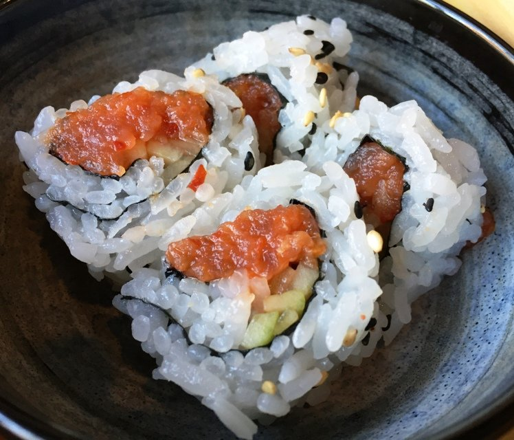 Spicy tuna roll at City Market Sushi, Raleigh - NC Triangle Dining