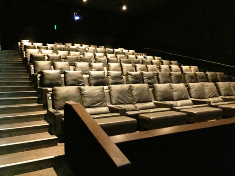 Theater seating at Silverspot Cinema in Chapel Hill - NC Triangle Dining