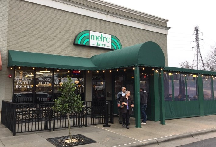 Front of Metro Diner in Raleigh - NC Triangle Dining
