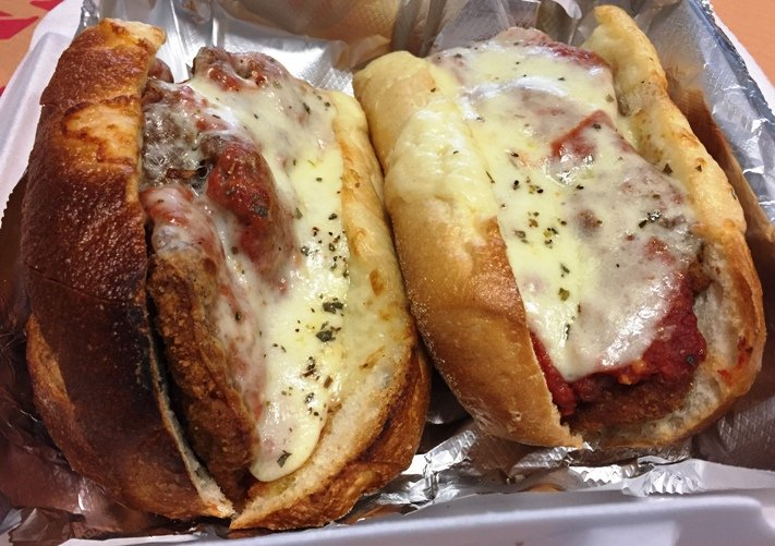 Chicken parm sub at Randy's Pizza in RTP - NC Triangle Dining