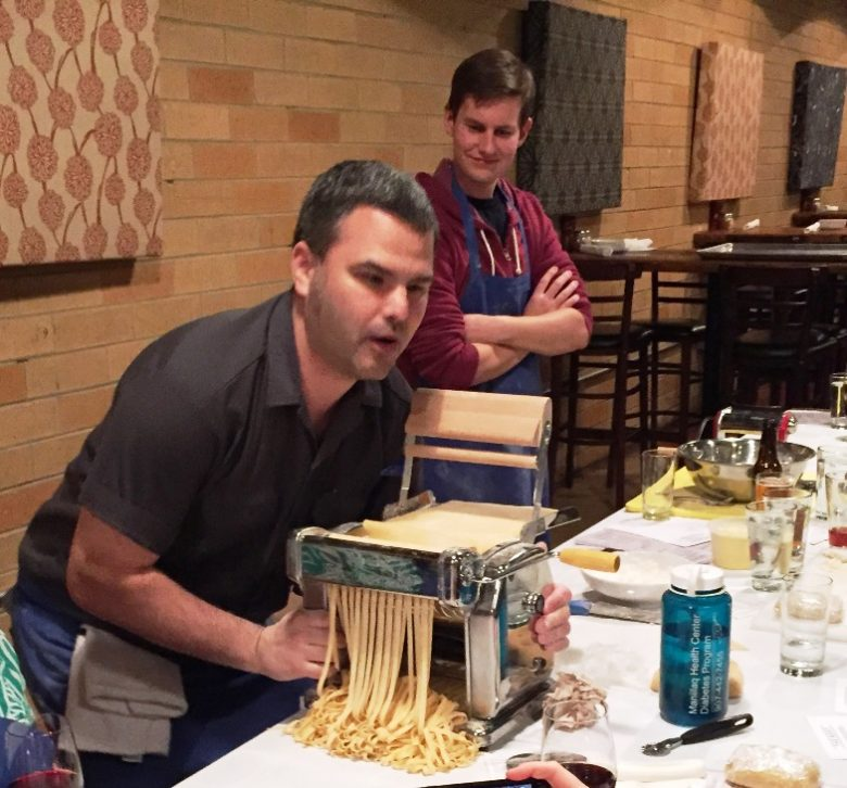 Chef Rob making fettucine at the Boot in Durham - NC Triangle Dining
