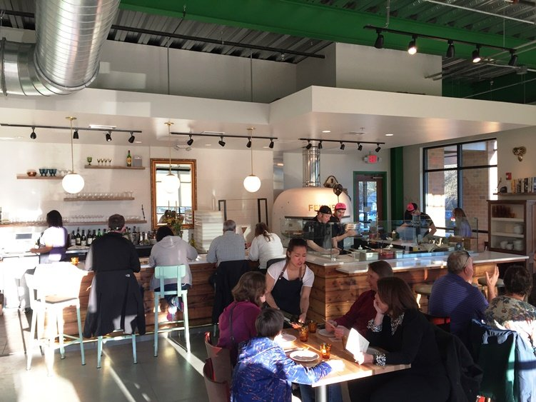 Dining room at Pizzeria Faulisi in Cary- NC Triangle Dining