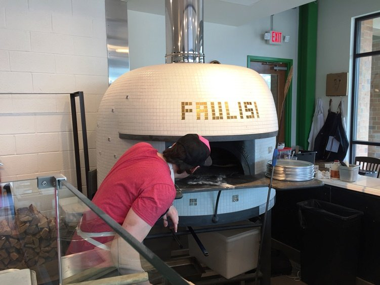 Pizza oven at Pizzeria Faulisi in Cary - NC Triangle Dining