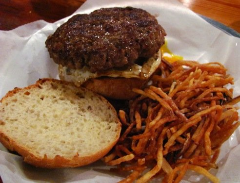 Burger from Bull City Burger & Brewery in Durham- NC Triangle Dining