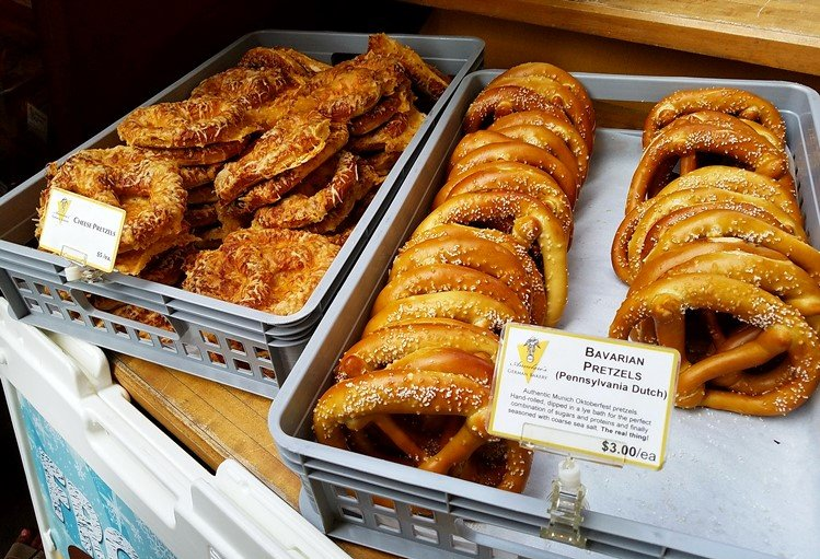 Annelore's pretzels at NC State Farmers Market in Raleigh- NC Triangle Dining