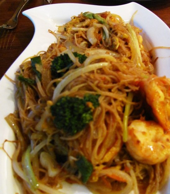 Singapore rice noodles at David's Dumpling & Noodle Bar in Raleigh - NC Triangle Dining