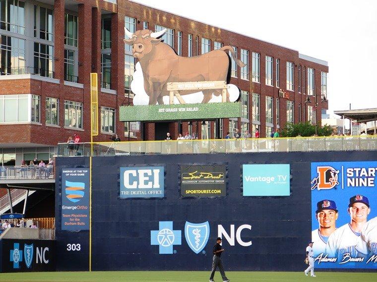 The Blue Monster at Durham Bulls ballpark - nctriangledining.com