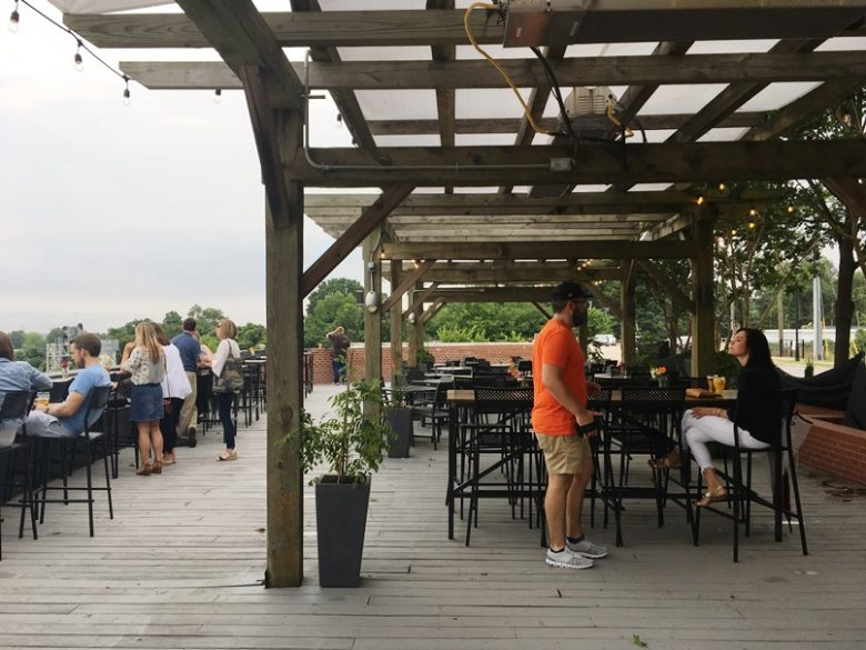 Patio at Wye Hill Kitchen & Brewing in Raleigh - nctriangledining.com