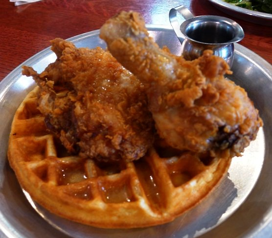 Chicken and waffles at Beasley's in Raleigh- NC Triangle Dining
