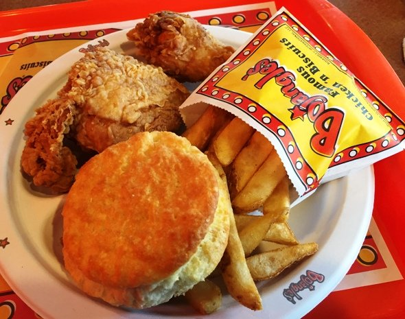 Fried chicken at Bojangles on Western Blvd, Raleigh- NC Triangle Dining