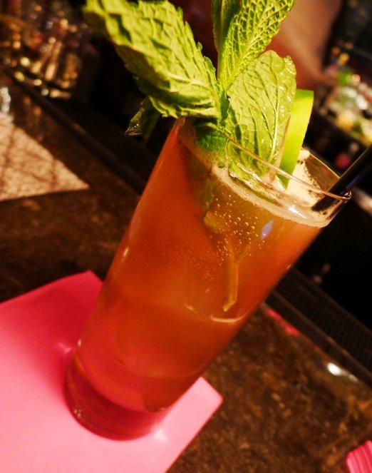 Pimms cup at Grace Bar in Raleigh, NC Triangle Dining