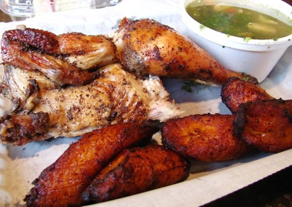 Roast chicken and sweet plantains at Mami Nora's in Raleigh- NC Triangle Dining