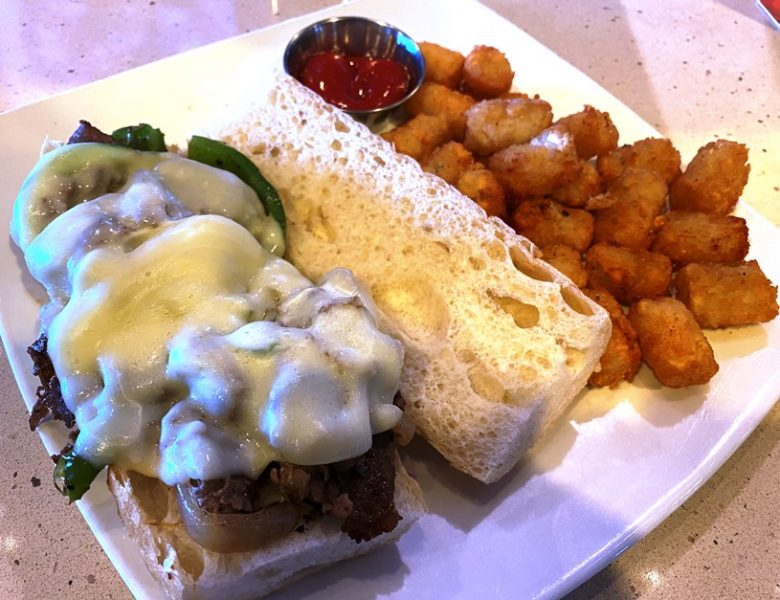 Cheesesteak and tots at Tobacco Road Sports Durham - nctriangledining.com