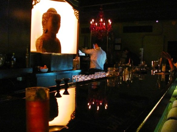 Buddha bar at the Empress Room in Raleigh, NC Triangle Dining
